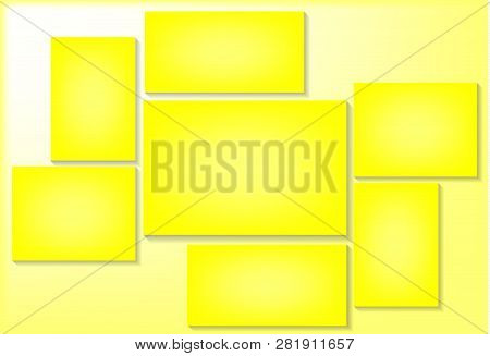 Vector Frame For Photos And Pictures, Photo Collage, Photo Puzzle. Templates Collage Frames For Phot