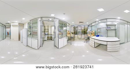 A Large Laboratory Room Panorama 360 Where Study Of Their Dna And Rna Panoramas 360 Place Inside The