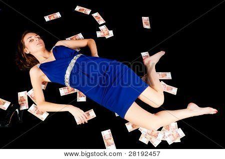Pretty woman laying