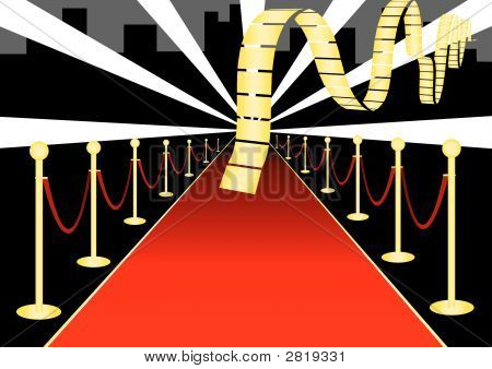 Red Carpet Event Vector