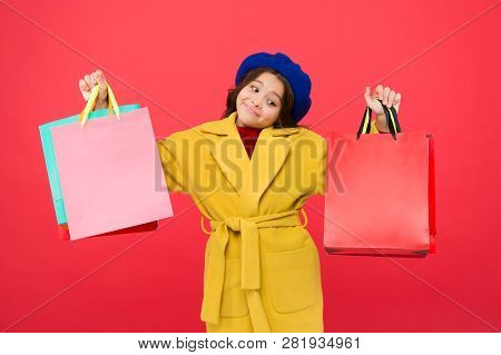 Get Major Wardrobe Refresh With Spring Sales At Stores. Obsessed With Shopping. Girl Cute Kid Hold S