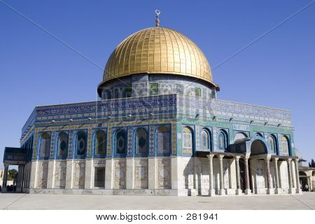 dome of the rock in jerusalem, israel in the old city poster