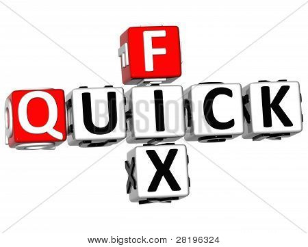 3D Quick Fix Crossword