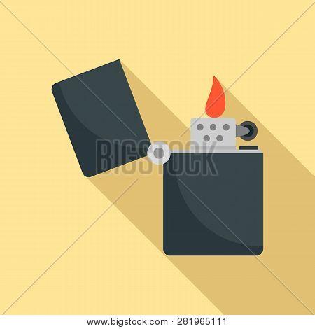 Kerosene Lighter Icon. Flat Illustration Of Kerosene Lighter Vector Icon For Web Design