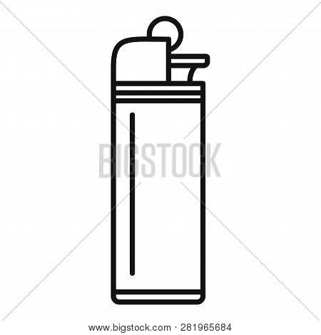 Portable Cigarette Lighter Icon. Outline Portable Cigarette Lighter Vector Icon For Web Design Isola