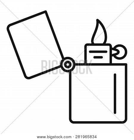 Kerosene Lighter Icon. Outline Kerosene Lighter Vector Icon For Web Design Isolated On White Backgro