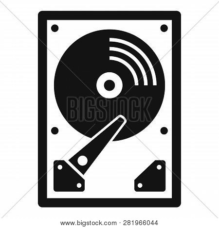 Server Hard Disk Icon. Simple Illustration Of Server Hard Disk Vector Icon For Web Design Isolated O
