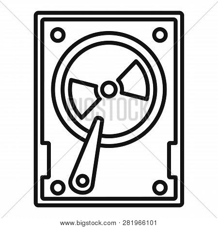 Magnetic Hard Disk Icon. Outline Magnetic Hard Disk Vector Icon For Web Design Isolated On White Bac