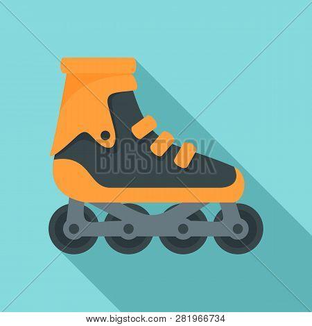 Modern Inline Skates Icon. Flat Illustration Of Modern Inline Skates Vector Icon For Web Design