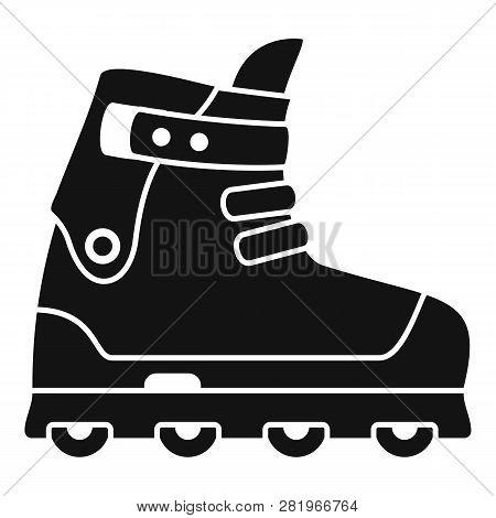 Small Wheel Inline Skates Icon. Simple Illustration Of Small Wheel Inline Skates Vector Icon For Web