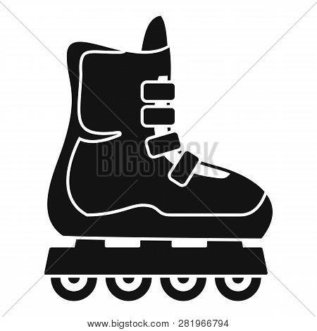 Children Inline Skates Icon. Simple Illustration Of Children Inline Skates Vector Icon For Web Desig