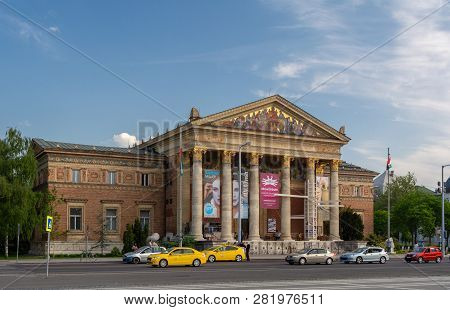 Budapest, Hungary, July 10, 2018: The Hungarian National Museum Is For The History, Art And Archaeol
