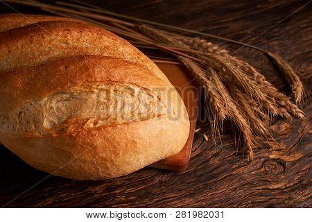 Fresh Homemade Bread. Crisp. Bread At Leaven. Unleavened Bread. Dietary Bread