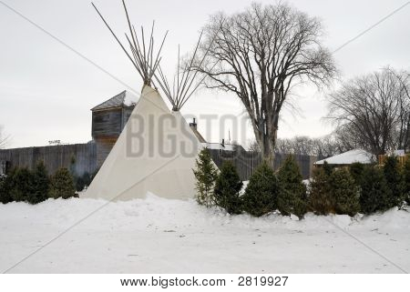 Fort And Teepee