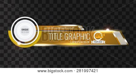 Video Headline Title Or Lower Third Template With Flow And Bokeh Lights Effect. Unique Banner Design