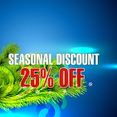 vector seasonal sale background design poster