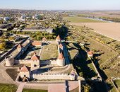 Aerial view of Bendery, Bender or Tighina Ottoman fortress in unrecognised Pridnestrovian Moldavian Republic, Transnistria, PMR, historical region of Bessarabia, officially Moldova. Trans-Dniester. poster