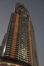 Dubai, Uae - Dec 20: The Address Downtown Dubai In The Uae, As Seen On Dec 20, 2018. The Tower Is Th