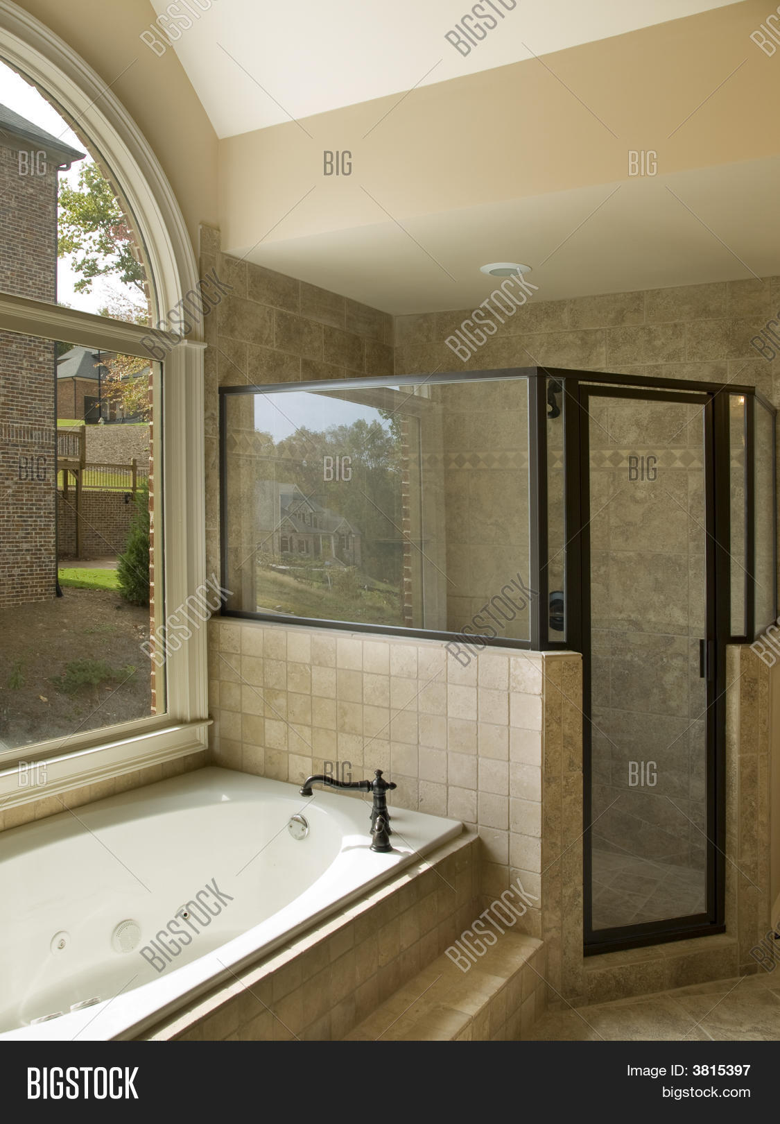 Luxury Bathroom With Jacuzzi And Shower