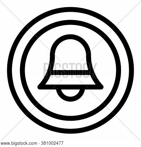 Home Nursing Notification Icon. Outline Home Nursing Notification Vector Icon For Web Design Isolate