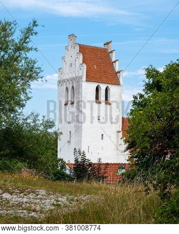 The Steeple Tower Of Falsterbo Church Standing Almost At The Beach In The South West Tip Of Sweden