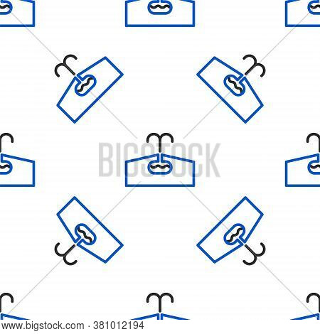 Line Oilfield Icon Isolated Seamless Pattern On White Background. Natural Resources, Oil And Gas Pro