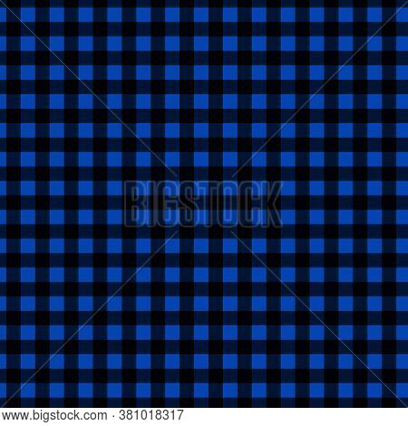 Blue And Black Buffalo Checkered Background And Digital Paper In 12x12 Design Elements.