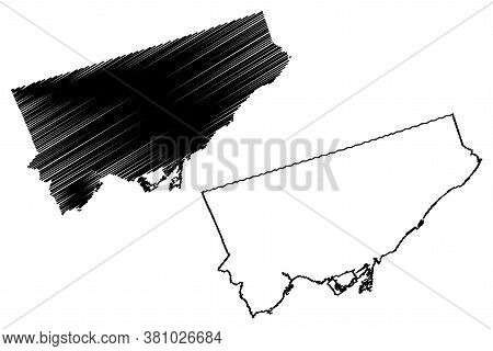 Toronto City (canada, Ontario Province) Map Vector Illustration, Scribble Sketch City Of Toronto Map