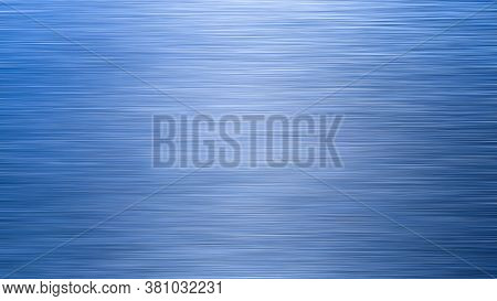 Blue Metal Brushed Horizontal Background Or Texture