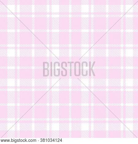 Pink Plaid Tartan Checkered Seamless Pattern