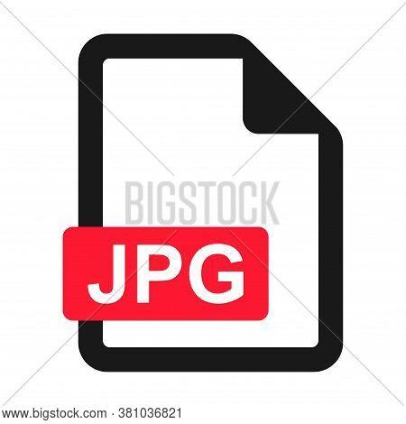File Jpg Flat Icon Isolated On White Background. Jpg Format Vector Illustration