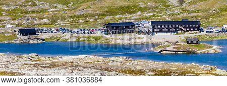 Viewpoint Sognefjellshytta Along National Scenic Route Sognefjellet Between Skjolden And Lorn In Sog