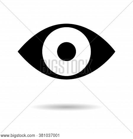 Social Eye, View, Vision Like Symbol For Web. Media Button Sign, Flat Design Isolated Network Media