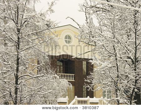 Private Residence Under Snow