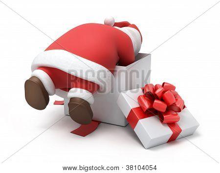 Santa prepares gifts