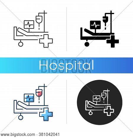 Intensive Care Icon. Critical Care Medicine. Icu. Hospital Ward. Intensive Treatment And Close Monit