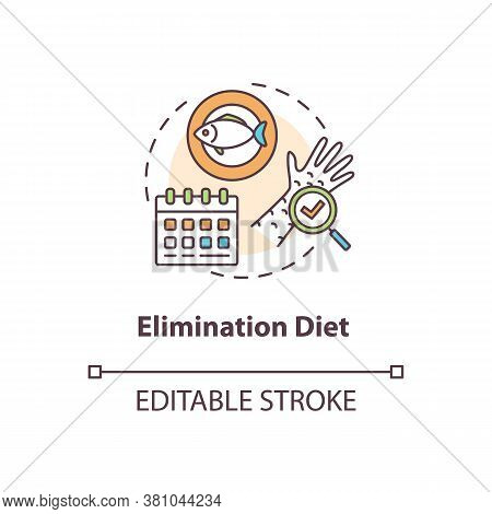 Elimination Diet Concept Icon. Biohacking, Smart Nutrition Idea Thin Line Illustration. Removing Pro