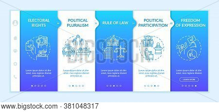 Political Rights Onboarding Vector Template. Electoral Rights. Political Participation. Human Rights