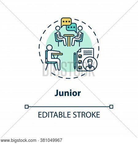 Junior Concept Icon. Student Tutoring. University Class Period. High School Attendant. College Life