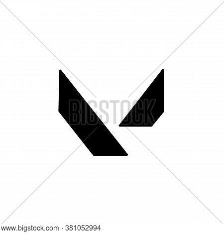 V Logo. Valorant Shooter Game Symbol. Vector On Isolated White Background. Eps 10