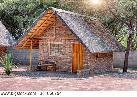 Generic thatched roof quarters used in many lodges in southern africa