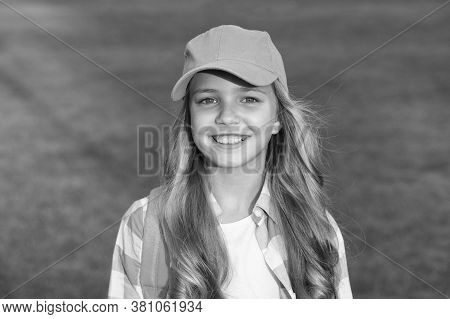 Smiling Girl. Cheerful Schoolgirl. Happy Smiling Child. Have Fun. Healthy Emotional Happy Kid Relaxi