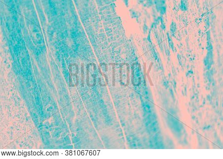 Turquoise And Pale Pink Patchy Background, Wooden Texture