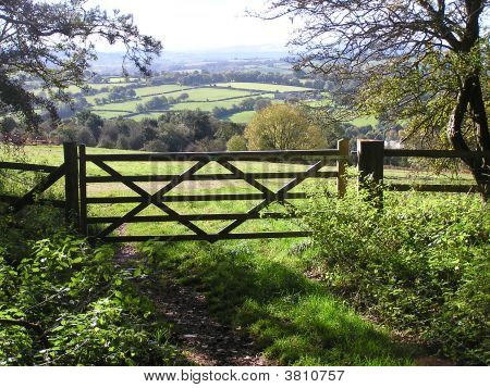 Five Bar Gate With A Country View