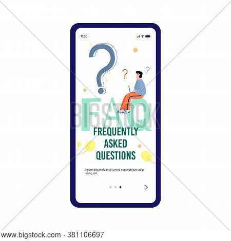 Faq Website Mobile Application Banner For Frequently Asked Questions Or Questions And Answers, Clien