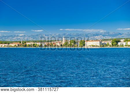 Croatia, City Of Zadar, Panoramic View Frome The Seaside. Zadar Is Famous Tourist Destination At Adr