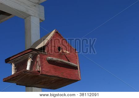 Americana Birdhouse - Red, White And Blue Theme