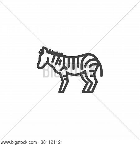 Zebra, Animal Line Icon. Linear Style Sign For Mobile Concept And Web Design. African Wild Horse, Ze