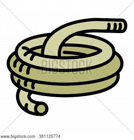 Pool Hose Icon. Outline Pool Hose Vector Icon For Web Design Isolated On White Background