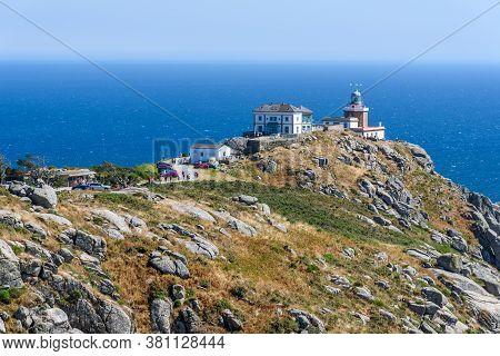 Finisterre, Spain - July 19, 2020: The Cape Of Finisterre In Costa Da Morte Or Death Coast In The No